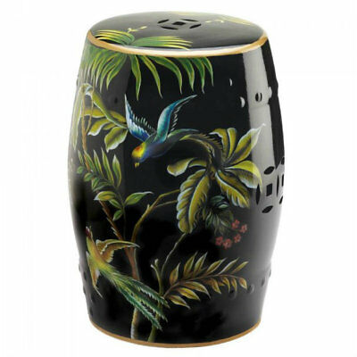 BeautifulTropical Birds Decorative Stool or Side Table Chair Sofa 0r Stand Alone
