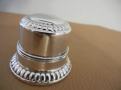 Vintage Birks  Dome  Sterling Silver  Single  Slot Ring Box   - Exc++