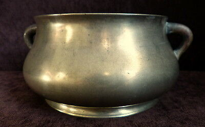 Antique Chinese polished bronze censer 18/19 th