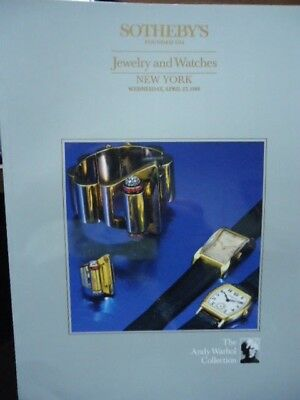 1988 Andy Warhol Jewelry Watches Collection Sotheby's Auction Catalog Vintage