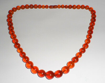 Vintage amber necklace,RUSSIAN BALTIC AMBER,Spheres of different diameter