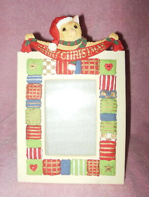 Beautiful Resin Hp Resin Holiday Christmas Cat Picture Or Photo Frame
