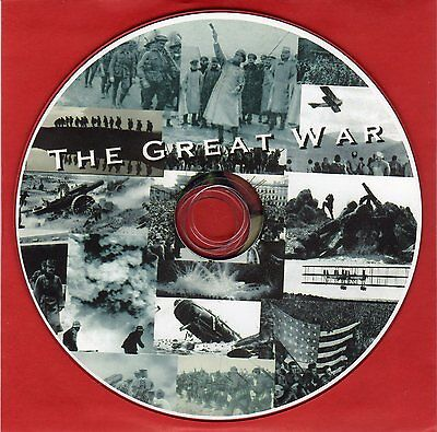 5,000 WW1 World War One Battle photographs & maps & Posters on CD. See Movie!