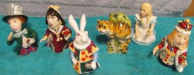Six Dept. 56 Alice In Wonderland Candle Crown Coll. Fine Porcelain Figurines~WOW