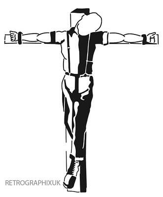 Crucified Skin - Skins Skinhead Stickers Scooter Stickers Ska 2Tone Oi Stickers