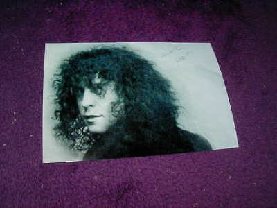 Marc Bolan Photo (Looking Back) ,t.rex ,printed Autograph