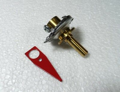6 to 1 Reduction Drive with Red Pointer for  Amplifiers & Tuners, Fits 1/4 inch