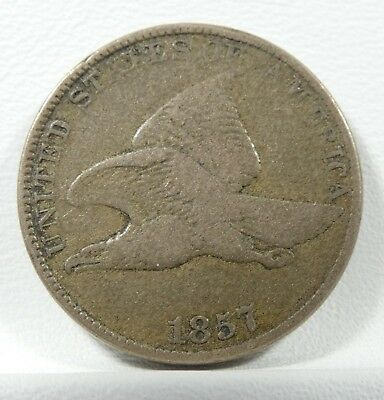 1857 Flying Eagle Small Cent FINE 1-Cent