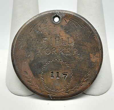 "1847 Field Workers Slave Tag from Florida 1.75"" Solid Copper"
