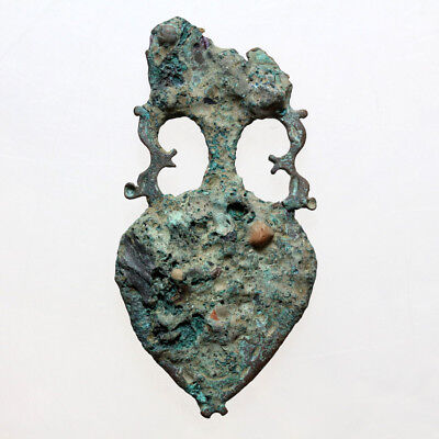 Very Rare-Ancient Greek Bronze Amphora End Strap Circa 500 Bc-Large Size
