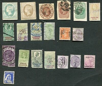 Stamp Lot Of Great Britain Bob Items, Mh And Used