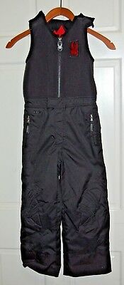 Spyder Black Ski Snow Bibs Pants Boys Size 5