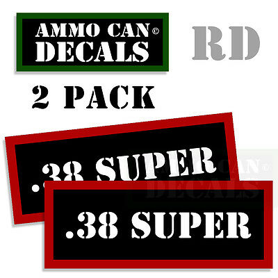 "338 FED Ammo Can Labels Ammunition Case stickers decals 2 pack 3/""x1.15/"""