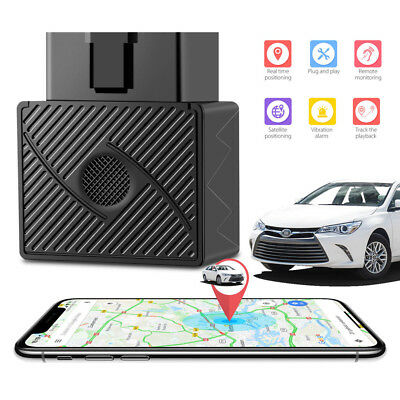 OBD 2 GPS Tracker Real Time Car Vehicle Tracking Device Spy System Locator Alarm
