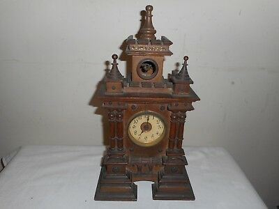 Spring Driven,Architectural Mantle Cuckoo Clock, Working But Needs Attention.