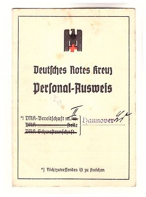 Dokument Ausweis DRK Rotes Kreuz 1940 Hannover  (88)