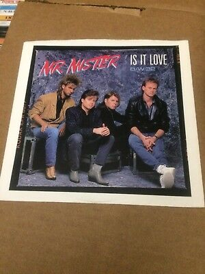 "Mr. Mister Is It Love  Pic Sleeve Only No Record  7""  R"