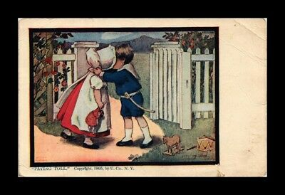 Dr Jim Stamps Us Postcard Children At Fence Kissing Paying Toll Humor