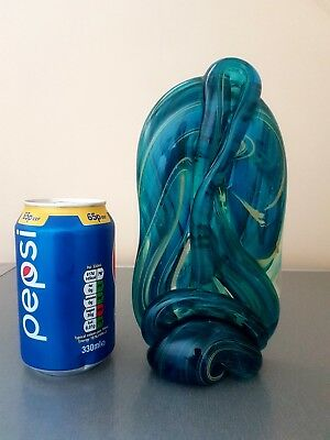 Large 8.1/4 Inch High Mdina Glass Knot Sculpture Signed