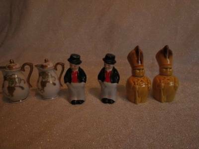 Vintage Salt And Pepper Shakers Lot Of 3 Sets, Japan