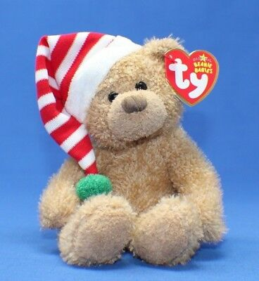 Ty Beanie Baby Babies ~ SKIS the HOLIDAY BEAR ~ Plush ~ 2006 ~ MWMTs ~ Retired