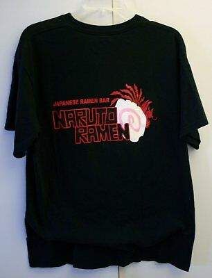 Vintage Large 100% Cotton Tee Japanese Ramen Bar Naruto Brooklyn NY Famous On TV