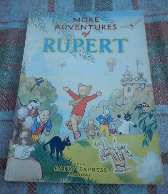 Orig. 1947 Daily Express  Rupert Bear Annual~Price Unclipped~Lovely Condition.