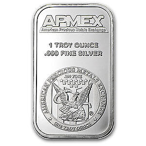 One Ounce .999 Fine Silver ApMex Bar