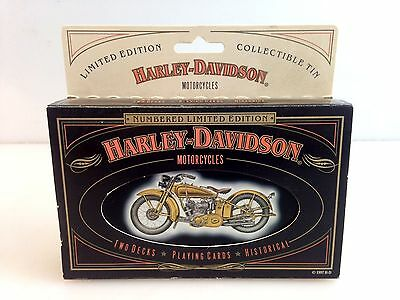 Harley Davidson Limited Edition Playing Cards Collectors Tin 1929 29D Side-Valve