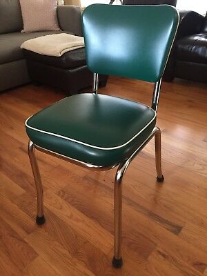 Great condition Green Diner Chairs - set of 6