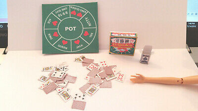 Barbie Doll 1:6 Handmade Miniature Tripoley Game with Cards