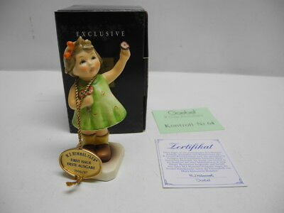 """Vintage Goebel 793 """"Forever Yours"""" M.I. Hummel Club First Issue Figurine 014 Box"""
