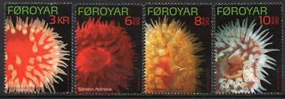 FAROE ISLANDS MNH 2012 SG655-58 Sea Anemones