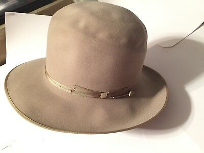Vintage 1950's size 7 Royal Deluxe Stetson Open Road Fedora Mens Hat (Hat only)