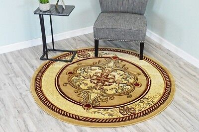 New Round 8 foot Area rug  made in turkey ,hand carved, oriental floral