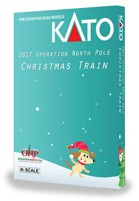Kato 1062017 N 2017 Operation North Pole Christmas Train 6-Unit Book Case