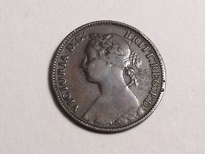 GREAT BRITAIN 1881 farthing coin nice circulated