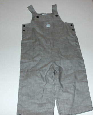 Infant Boys JANIE AND JACK LAYETTE Gray Overalls 6-12 Months