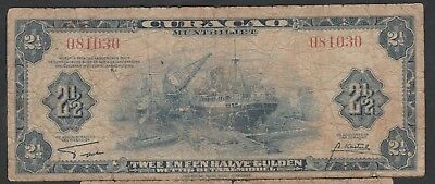 2 1/2 Gulden From Curacao 1942