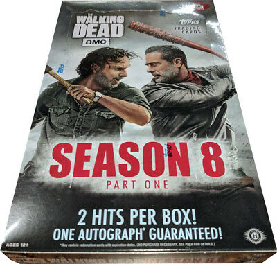 Topps 2018 Walking Dead Season 8 Factory Sealed Trading Card Hobby Box