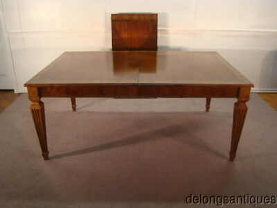 49194:Ethan Allen Cherry Banded Top Dining Table w/ 2 Leaves