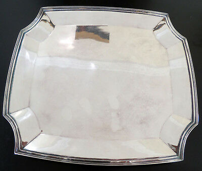 """Silver Plated """"LEGACY"""" Art Deco Footed Tray by 1847 Roger's Bros. 10.5"""" ca.1928"""