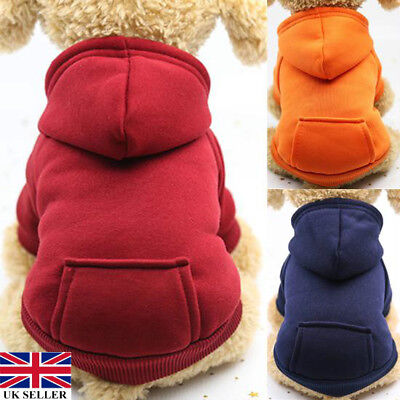 Dog Hoodie Clothes Pet Jacket Coat With Pocket Puppy Cat Apparel Winter Warm