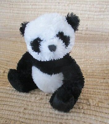 "Ty Beanie Babies "" Wonton"" Panda Bear  2007 Black/White 6"" Tall Sitting"