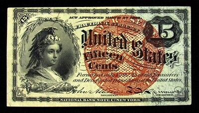 FR.1271 4th Issue (1869-1874) 15 Cent US Fractional Currency