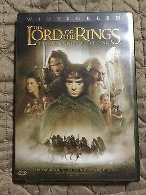 The Lord of the Rings The Fellowship of the Ring DVD 2002 2-Disc Set Widescreen
