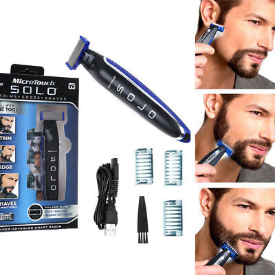 Men Rechargeable Micro Electric Touch SOLO Shaver and Trimmer Tool Portable