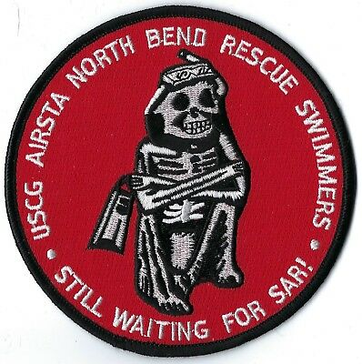 Us Coast Guard Air Station North Bend Rescue Swimmers Patch
