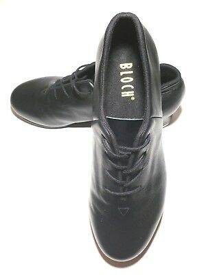 Womens Bloch Black Lace Tap Shoes Leather Techno Tap #1T / #2H SIZE 10.5