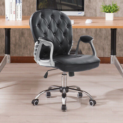 Home Office Luxury 360° Swivel Rocking Chair Computer Desk Lift Chair Fashion UK